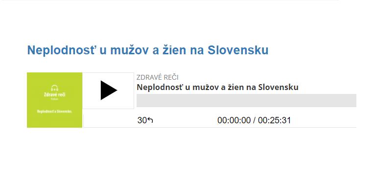 Neplodnosť u mužov a žien na Slovensku